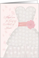 Lace Shadow Thank You Maid of Honor card