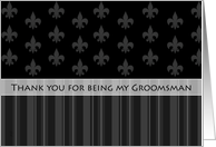 Fleur de Lis Thank You Groomsman card