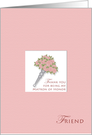 Friend Tussie Mussie Thank You Matron of Honor card