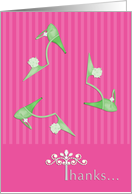 Bachelorette Party Thanks Green Shoes card