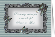 Butterfly Mirror Sister-in-Law Birthday card