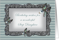 Butterfly Mirror Step Daughter Birthday card