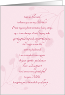 Wedding Thank You for Mom card