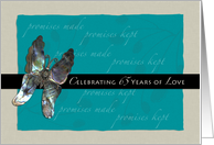 65th Wedding Anniversary Invite Butterfly Promise card