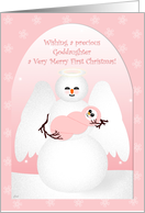 Baby's First Christmas Goddaughter Angel card