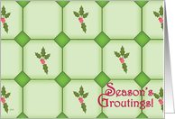 Christmas Tile Contrator Funny Grout Humor card