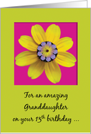 Granddaughter 13 Happy Birthday a Bloomin Teenager Flowers on Pink card