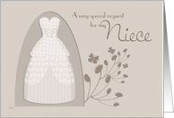 Niece Junior Bridesmaid Invitation Request card