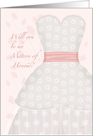 Be My Matron of Honour Lace Shadow card