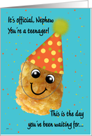 Nephew 13 Happy Birthday Funny Tater Tot card
