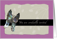 Vow Renewal Invitation, Butterfly, Informal Purple card