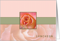 Bridesmaid Luncheon Invitation, Rose Contemporary in Pink and Green card