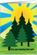 Summer Camp Sunshine Forest Thinking of You card