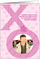 Aunt Valentine's Day Kisses Hugs XO Photo Card