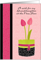 Granddaughter Persian New Year Norooz with Tulips and Wheat Grass card