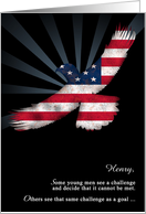 Eagle Scout Congratulations American Flag Eagle Add Custom Text card