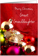 Merry Christmas, Great Granddaughter card
