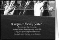 Sister Maid of Honor Request card