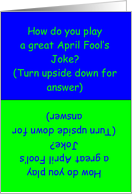 April Fool's Humor card