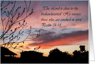 Scripture Sunset Encouragement card
