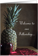 Pineapple Welcome to our Fellowship card
