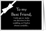 Best Friend will you be my Best Man? card