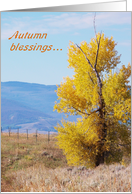Autumn Blessings card