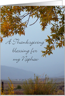 A Thanksgiving Blessing for my Nephew card