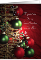 A Special Christmas wish for my Great-Grandson and his wife card