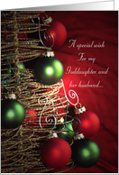A Special Christmas wish for my Goddaughter and her husband card
