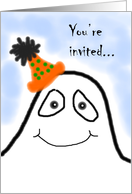 Halloween birthday invitation card