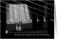 Grandpa, will you walk with me? card