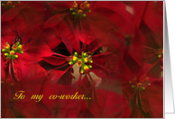 Happy Holidays Poinsettia From Co-Worker card