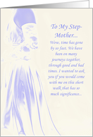 Step-Mother Bridesmaid Request card