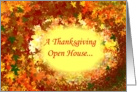 Thanksgiving Open House Invitation card