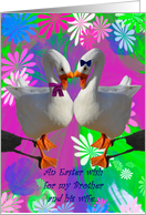 Happy Easter Brother and Wife card