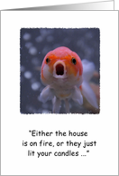 Goldfish birthday humor card