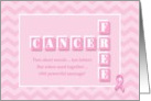 Cancer Free! Pink chevron congratulations card