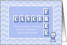 5 Year Anniversary Cancer Free! Custom blue chevron congratulations card