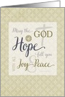 Scripture Encouragement - the God of Hope fill you with Joy & Peace card