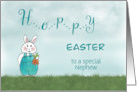 Hoppy Easter Bunny Rabbit - Nephew card