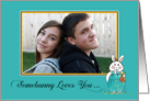 Easter - Somebunny Loves You Custom Photo card