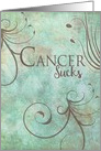 Cancer Sucks - Patient Encouragement card