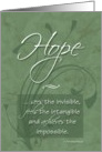 Hope - Cancer Patient Caregiver Encouragement card