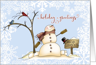 Holiday Greetings Snowman card