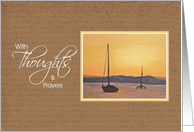 Sympathy Thoughts & Prayers - Sunset card