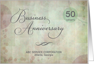 Business 50th Anniversary custom name / years card