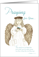Guardian Angel - Praying for you encouragement card