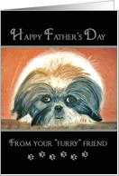 Father's Day - from dog card