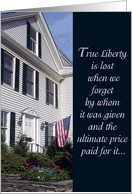 True Liberty - Welcome Home card